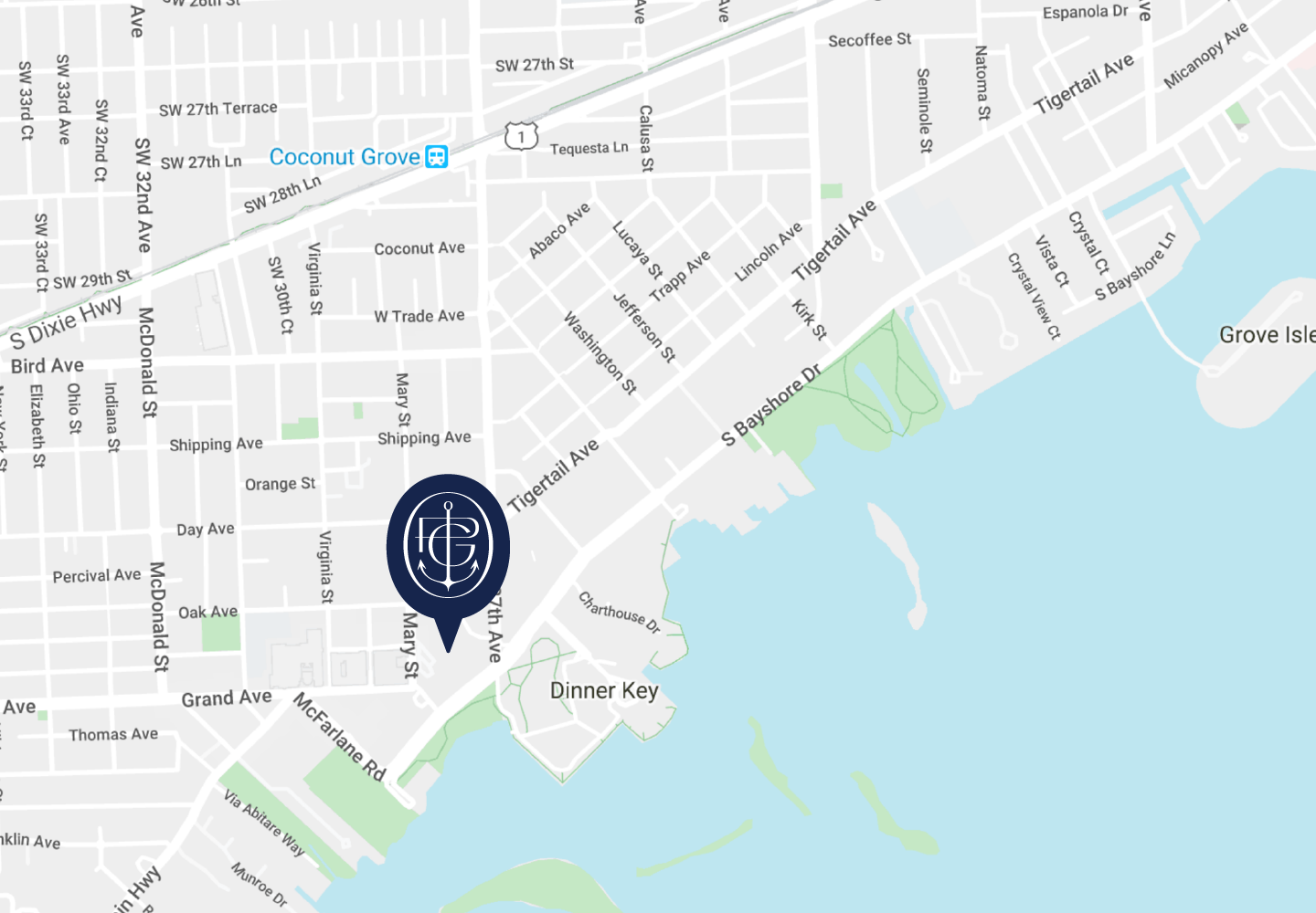 One Park Grove Sales Gallery Location